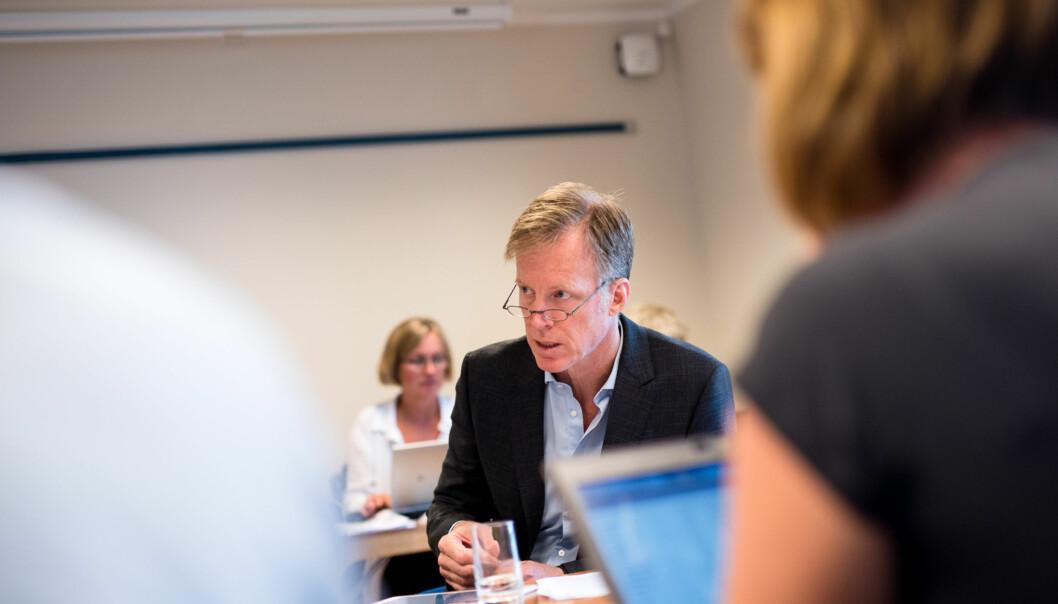 I forbindelse med universitetsakkrediteringen skal vi sammenligne oss med de nye universitetene, sier HiOA-rektor Curt Rice og mener det kan bli vanskelig hvis man ikke kan stole på tallenederes. Foto: Skjalg Bøhmer Vold