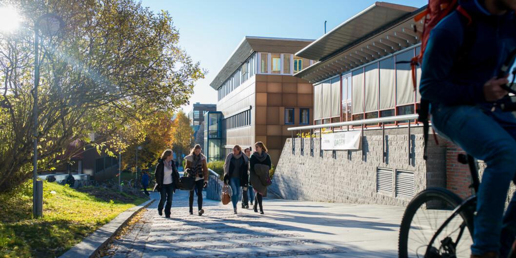 Spørsmålet om hvor mange fakulteter UiT Norges arktiske universitet skal ha i framtiden skaper engasjement, her fra campusen iTromsø. Foto: Skjalg Bøhmer Vold