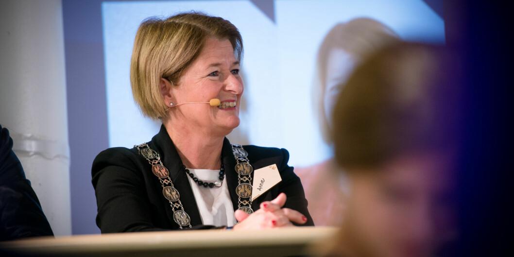 Anne Husbekk tar gjenvalg som rektor ved UiT Norges arktiske universitet, sammen med sine to prorektorer. Ingen motkandidater har meldt seg sålangt. Foto: Skjalg Bøhmer Vold