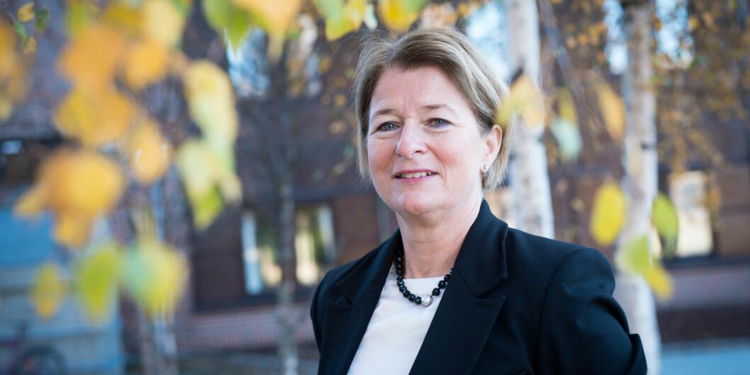 Rektor ved UiT Norges arktiske universitet i Tromsø, Anne Husebekk, har mottatt et protestbrev med over100 underskrifter som mener at forslaget om å legge ned 15 studier ved universitetet erdestruktivt. Foto: Skjalg Bøhmer Vold