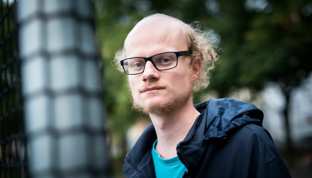 William Sæbø ønsker Gjestelista fra Universitetet i Oslo hjertelig velkommen til Høgskolen i Oslo og Akershus. Foto: Skjalg Bøhmer Vold