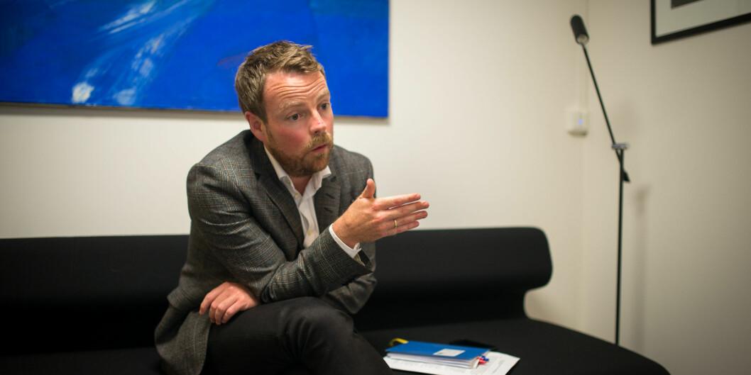 —Jeg har som politiker sagt at jeg er dypt uenig med Aksel Braanen Sterris resonnement, men det er en vesensforskjell på å være uenig i et standpunkt og det prinsipielle spørsmålet om akademisk frihet og ytringsfrihet mer generelt, sier Torbjørn RøeIsaksen. Foto: Skjalg Bøhmer Vold