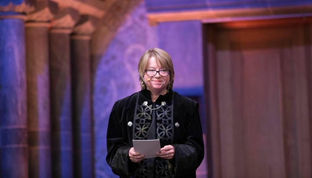 Prorektor for utdanning ved NTNU, Berit Kjeldstad, leder gruppa som jobber med fagligorganisering.