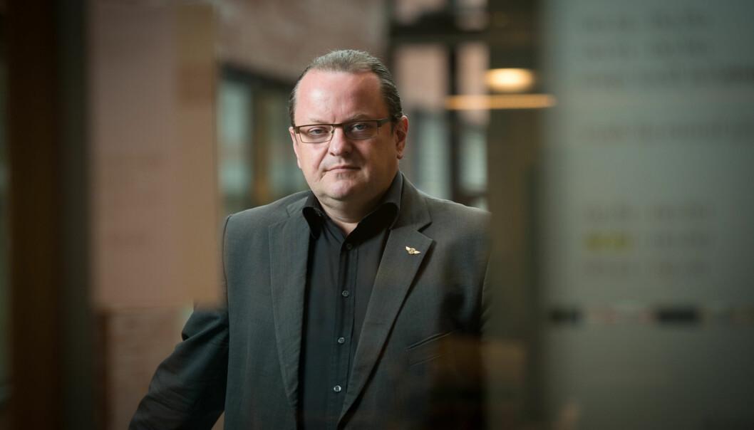 Journalistprofessor Arne Krumsvik søker seg fra Høgskolen i Oslo og Akershus til lederstilling ved Universitetet iOslo. Foto: Skjalg Bøhmer Vold