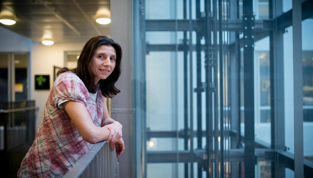 Laurence Habib er instituttleder på Institutt for informatikk på OsloMet. Hun er fornøyd med søkerne til stillingen som professor i digital tranformasjon. Foto: Skjalg Bøhmer Vold