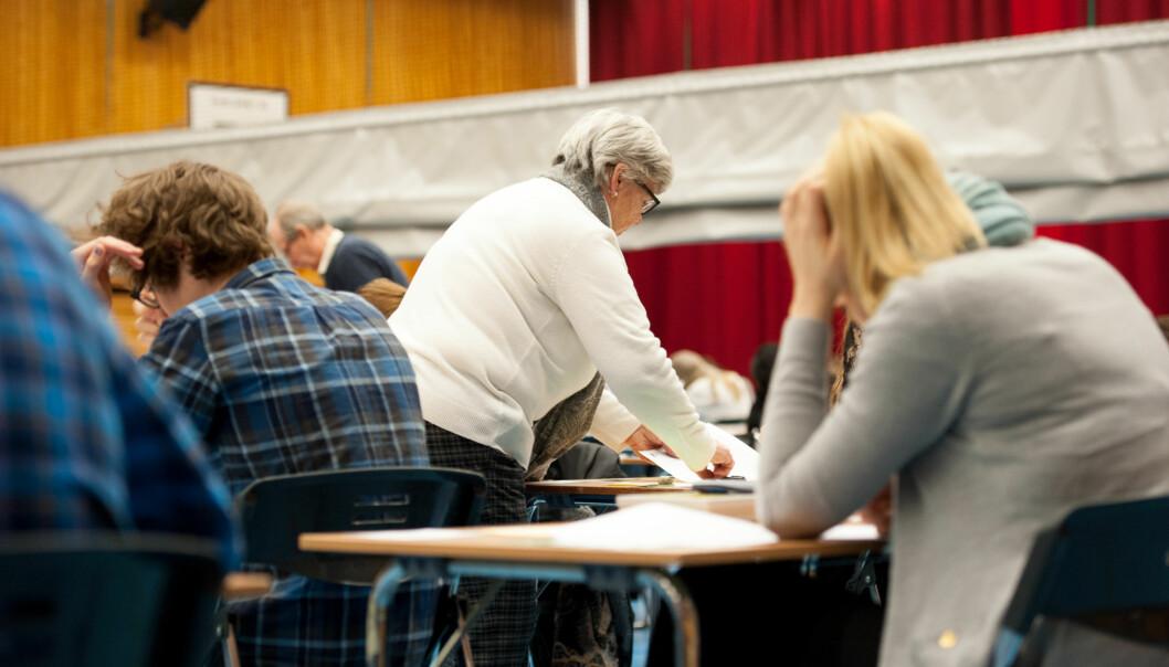 Etter at muligheten til å konte eksamen for å forbedre karakter forsvant i 2012 stryker studenter strategisk påeksamen. Foto: Skjalg Bøhmer Vold
