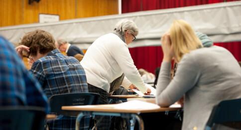 Stryker med vilje på eksamen