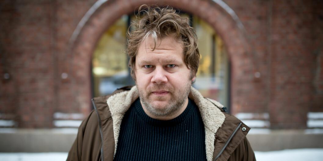 """Anders Schjelderup Lyng er nylig gjenvalgt som leder i <span class=""""caps"""">NTL</span> på Høgskolen i Oslo og Akershus og skal nå arbeide for boikott avIsrael. Foto: Skjalg Bøhmer Vold"""