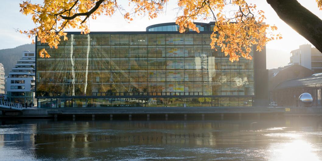 Hovedsetet for Universitetet i Sørøst Norge (i Drammen. Ansatte protesterer sterkt mot forslag om nedleggelse forfatterstudium. Foto: Skjalg Bøhmer Vold