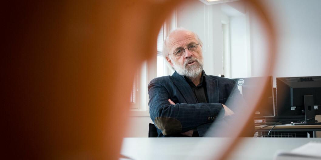 Rektor Petter Aasen ved Universitetet i Sørøst-Norge vil gjerne samarbeide med kinesiske universiteter, men ser ikke verdien av store , politiske delegasjonsreiser. Foto: Skjalg Bøhmer Vold