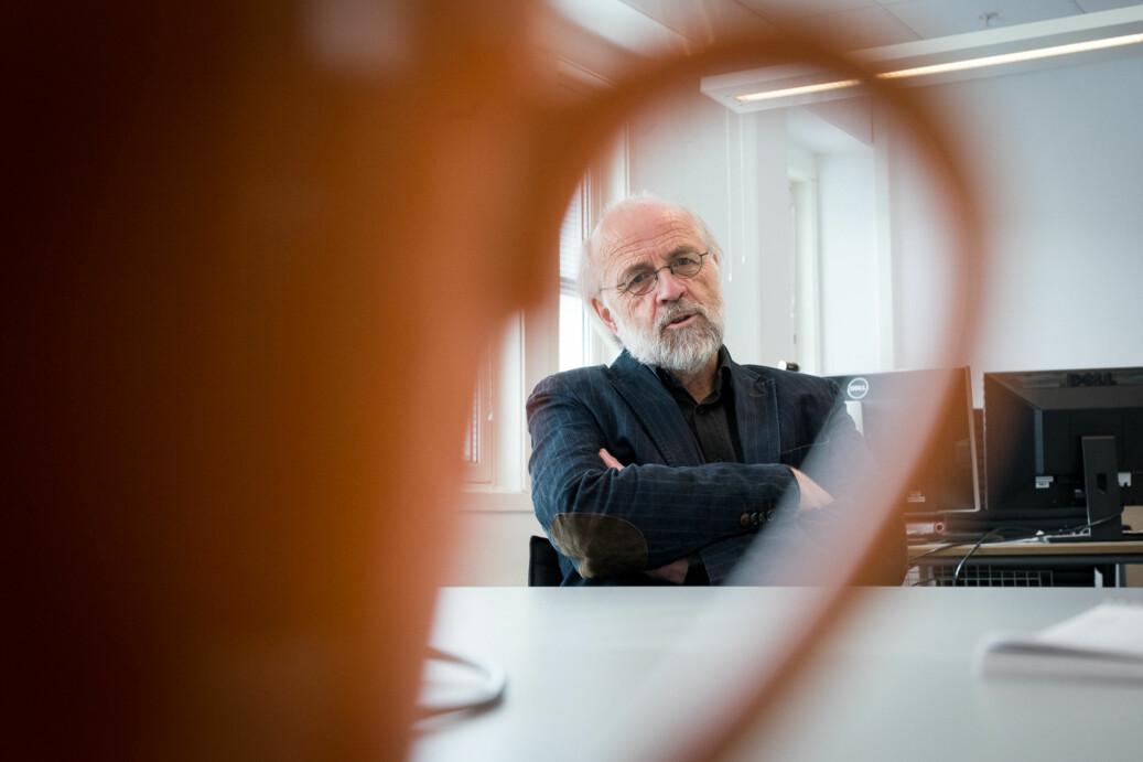 Rektor Petter Aasen ved Universitetet i Sørøst-Norge friskmelder studentdemokratiet ved institusjonen. Foto: Skjalg Bøhmer Vold