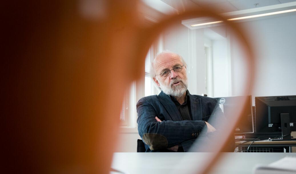 Rektor på Høgskolen i Sørøst-Norge, Petter Aasen - her på campus Bakkenteigen. Foto: Skjalg Bøhmer Vold