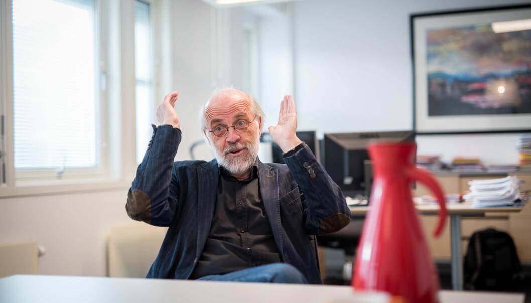 Rektor på Universitetet i Sørøst-Norge, Petter Aasen, på campus Bakkenteigen. Foto: Skjalg Bøhmer Vold