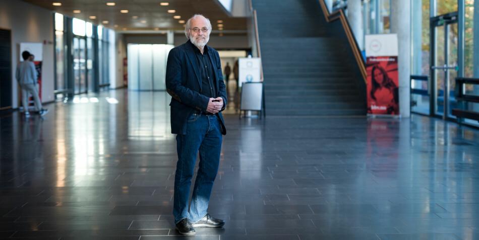 Rektor ved Universitetet i Sørøst-Norge, Petter Aasen, på Campus Bakkenteigen i Vestfold. Foto: Skjalg Bøhmer Vold