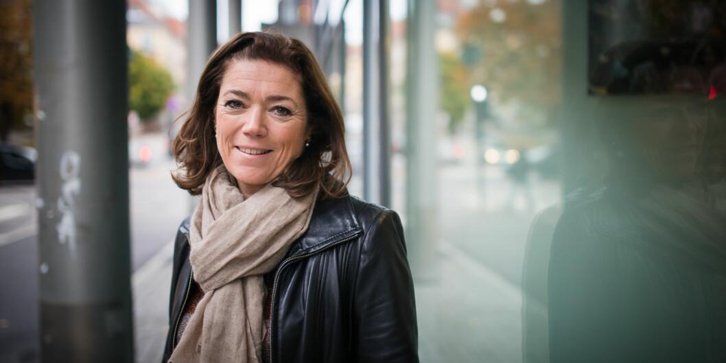 """<span class=""""caps"""">NHO</span>s administrerende direktør Kristin Skogen Lund legger fram sitt kompetansebarometeronsdag. Foto: Skjalg Bøhmer Vold"""