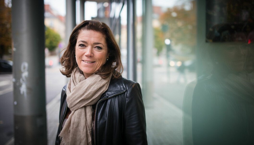 NHOs administrerende direktør Kristin Skogen Lund legger fram sitt kompetansebarometeronsdag. Foto: Skjalg Bøhmer Vold
