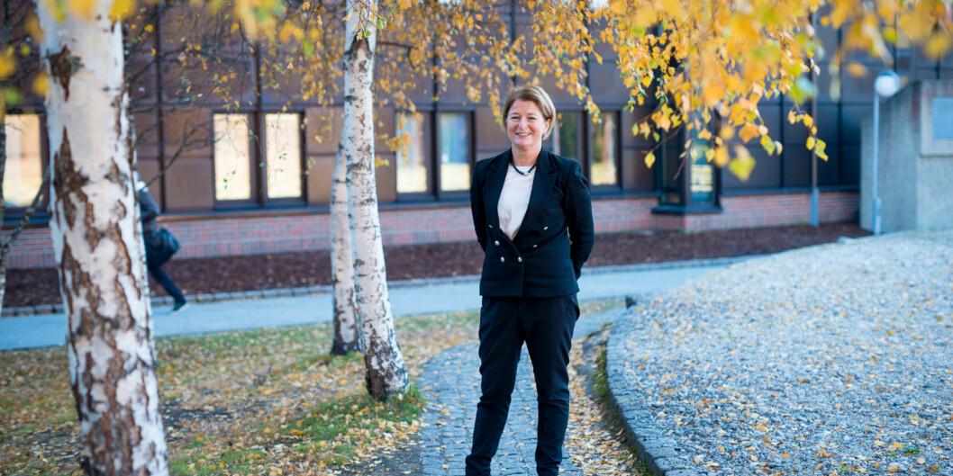 — Beslutninger tas av styret samlet, så mine meninger er bare 1/13 av beslutningene, sier rektor ved UiT - Det arktiske universitet, AnneHusebekk. Foto: Skjalg Bøhmer Vold