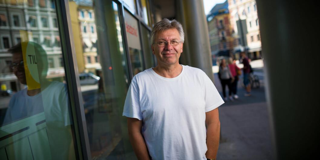 Direktør på Høgskolen i Oslo og Akershus (HiOA), Tore Hansen, svarer Pål Veiden (bildet), om begrunnelsen  for at man har valgt dagens løsning for reisebestilling. Foto: Skjalg Bøhmer Vold