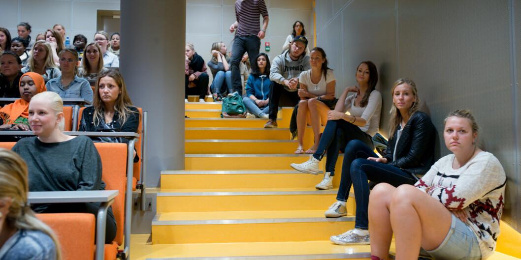 """Studiestart skal ikke være preget av trange forelesningssaler og mangel på lesesalsplass, mener Norsk studentorganisasjon (<span class=""""caps"""">NSO</span>) og leder MarianneAndenæs. Foto: Skjalg Bøhmer Vold"""