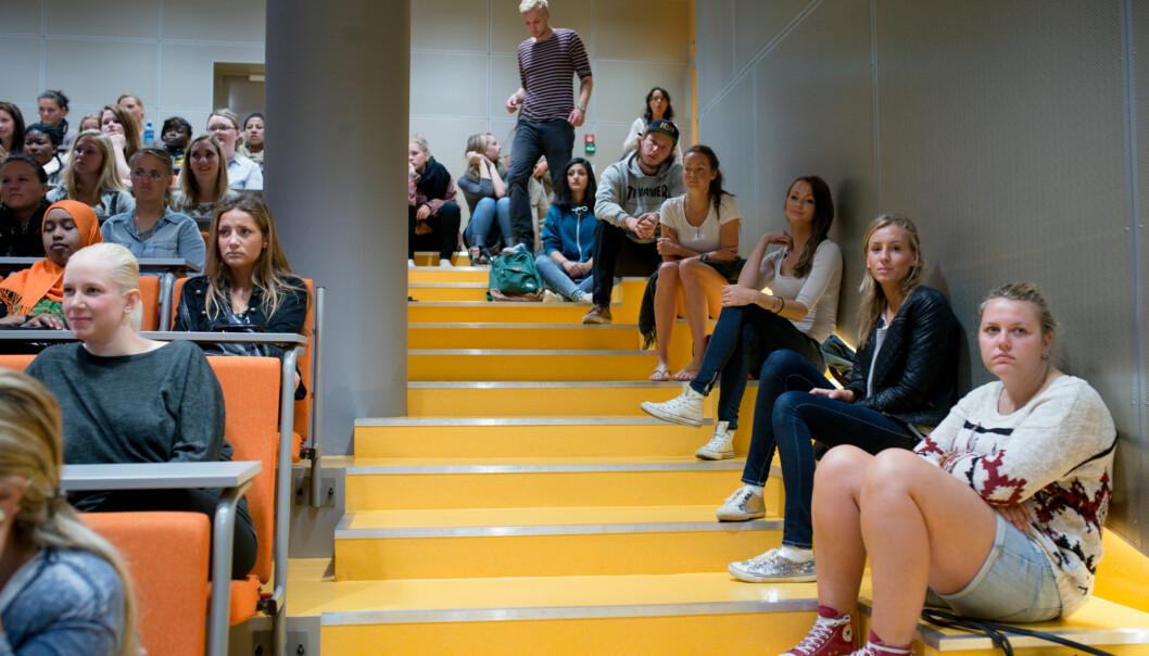Er det bare førsteamanuenser og professorer som skal profittere på god kvalitet påundervisningen? Foto: Skjalg Bøhmer Vold