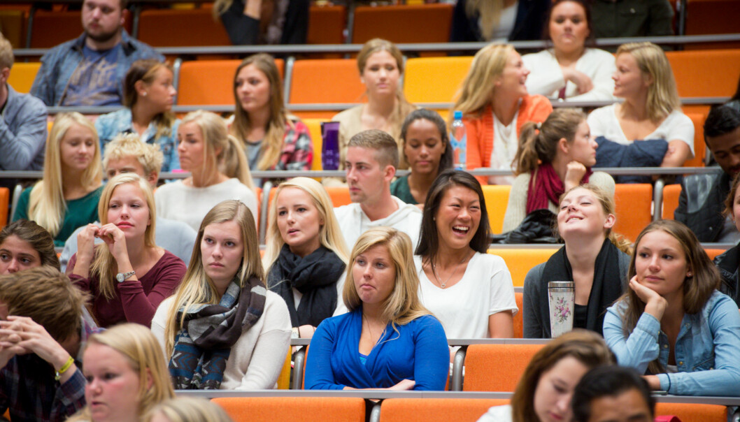 Universitet i Oslo har foreløpig 61 av de rundt 300 foreleserne som så langt er nominert til å kunne bli årets foreleser i Morgenbladets kåring. Her fra studiestart i Oslosentrum. Foto: Skjalg Bøhmer Vold