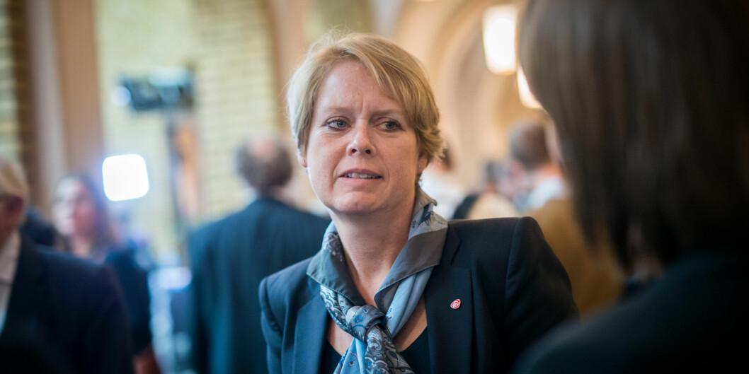 Arbeiderpartiet vil ha flere studieplasser innen høyere utdanning, forteller MarianneAasen. Foto: Skjalg Bøhmer Vold