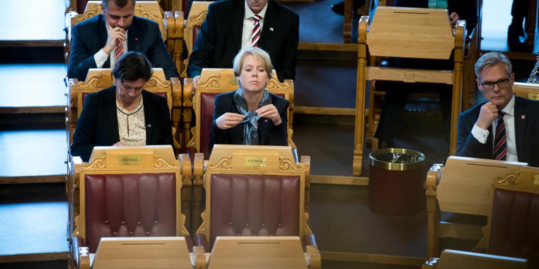 Marianne Aasen fronter Arbeiderpartiets forslag om økt satsing påutdanning. Foto: Skjalg Bøhmer Vold
