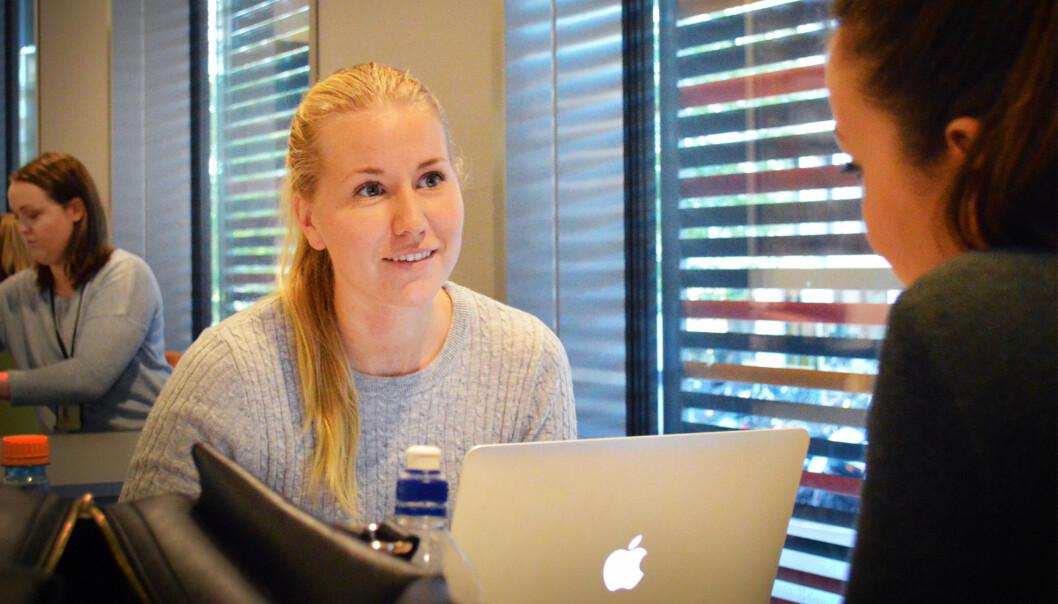 Malin Bergman studerer sykepleie ved HiOA, og har per i dag ikke planer om å dra på utveksling. Foto: AnneLindholm