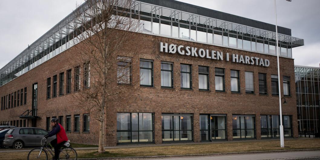 Høgskolen i Harstad er ikke lovet noe fakultet når det blir en del av UiT-Norges arktiske universitet. Det mener en gruppe ansatte ved høgskolen er heltfeil. Foto: Skjalg Bøhmer Vold