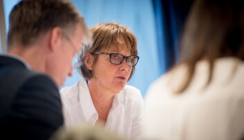 Styreleder Trine Syvertsen ba om en orientering om hva som har gått galt, til neste styremøte ved OsloMet. Foto: Skjalg Bøhmer Vold