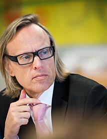 Prorektor Morten Irgens under styremøte på Refsnes Gods.