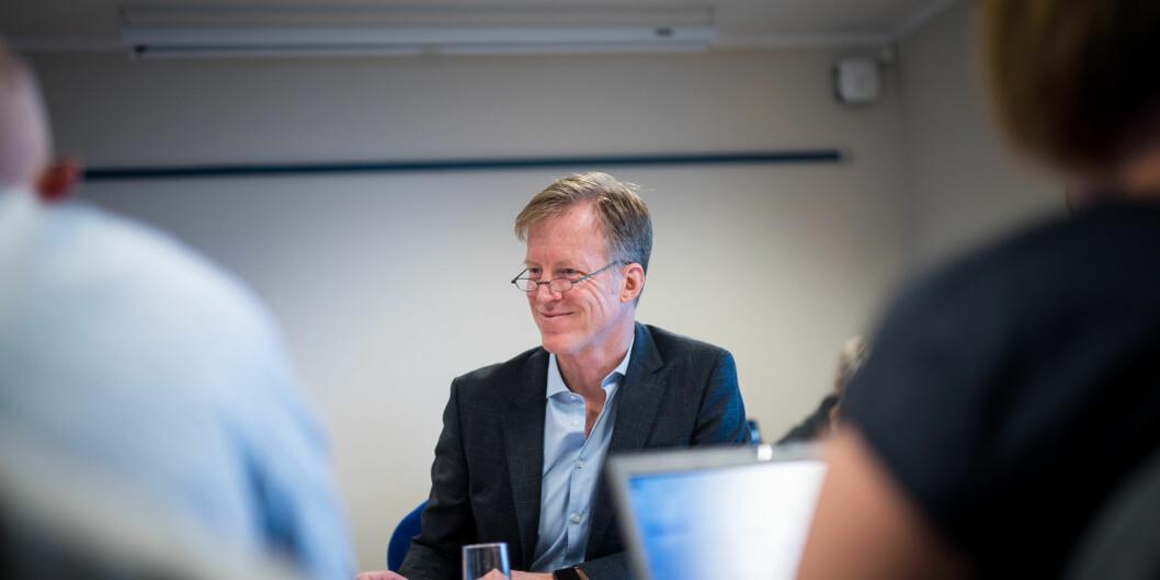 Fakultetene vil at rektor på Høgskolen i Oslo og Akershus, Curt Rice, bare skal ha en direktør på toppen, mens stemningen i administrasjonen på høgskolen heller mot todirektører. Foto: Skjalg Bøhmer Vold