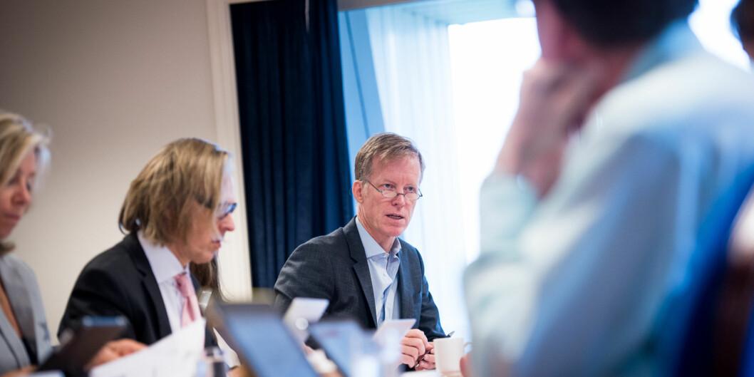 Rektoratet med Curt Rice i spissen satser hardt mot å få HiOA fram til å bliuniversitet. Foto: Skjalg Bøhmer Vold