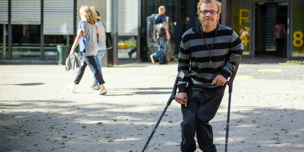 """Eivind Aakvaag studerer på Høgskolen i Oslo og Akershus, men han drømmer om å bli prest. Den drømmen deler ikke <span class=""""caps"""">NAV</span>. Foto: Øyvind Aukrust"""