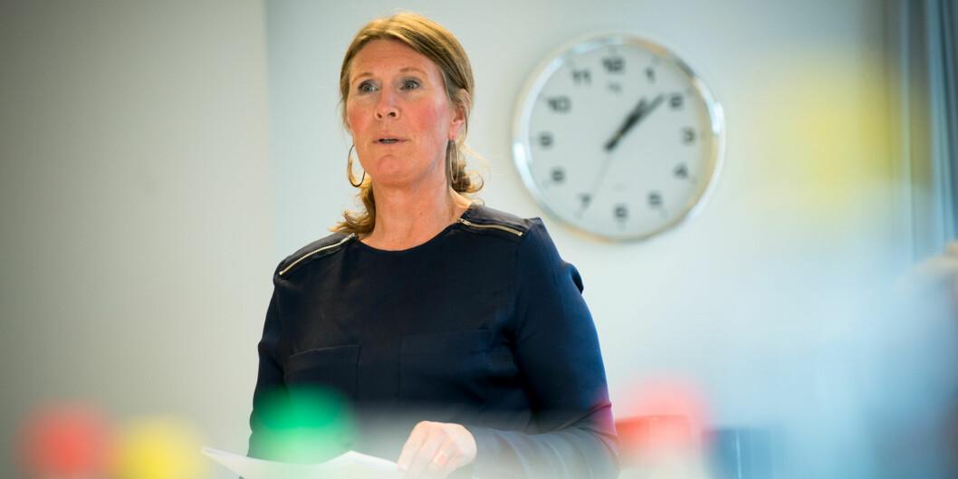 Studiedirektør Marianne Brattland ønsker å teste ut et system for automatisk begrunnelse på eksamen på Høgskolen i Oslo ogAkershus. Foto: Skjalg Bøhmer Vold