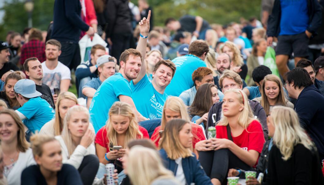 Internasjonale studenter beriker studielivet til norske studenter, mener Jannecke Wiers-Jenssen ved HiOA. Illustrasjonsbilde fra en velkomstseremoni ved HiOA. Foto: Skjalg Bøhmer Vold