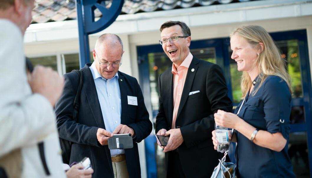 Dag Rune Olsen og Gunnar Bovim leder begge universiteter som er blant de 200 fremste i Europa. Ole Petter Ottersen og Universitet i Oslo er et lite hestehode foran de andrenorske. Foto: Skjalg Bøhmer Vold
