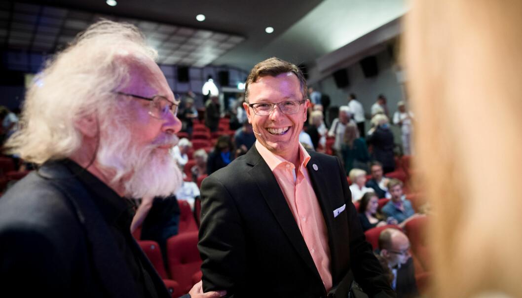 Rektor på Universitet i Bergen (UiB) Dag Rune Olsen, hers ammen med professor Nils Christian Stenseth.