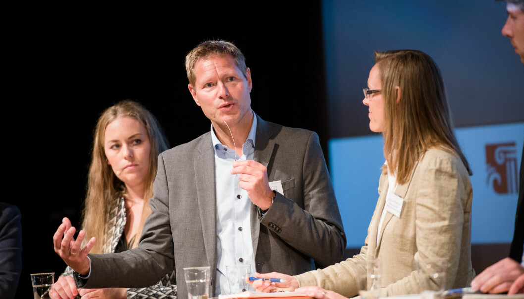 Direktør i Norsk institutt for studier om innovasjon, forskning og utdanning (NIFU), Sveinung Skule på seminar underArendalsuka. Foto: Skjalg Bøhmer Vold