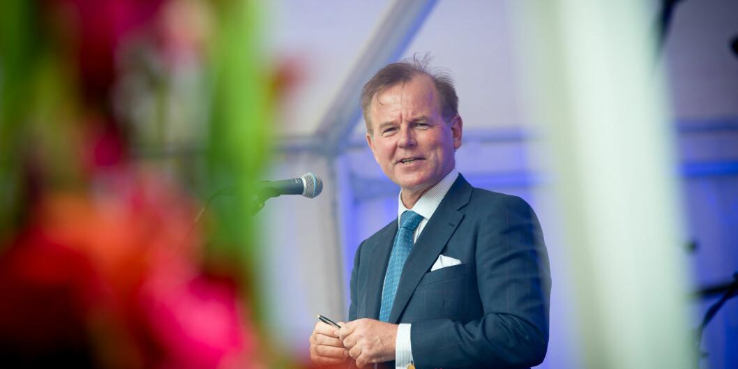Rektor på Universitet i Oslo, Ole Petter Ottersen, er godt fornøyd med at UiO stiger på prestisjefull internasjonal rangering universitetene imellom. Foto: Skjalg Bøhmer Vold