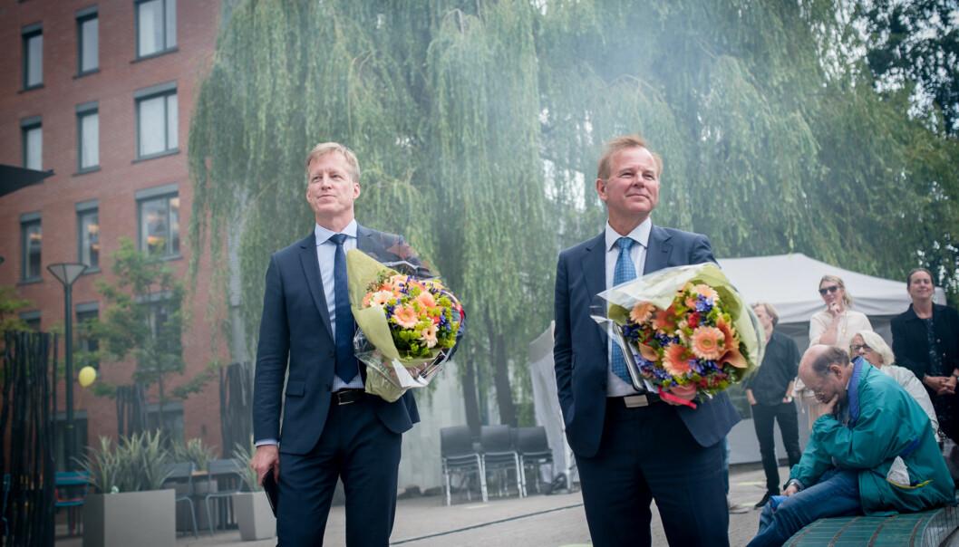 Rektor Curt Rice Curt Rice og rektor Ole Petter Ottersen Foto: Skjalg Bøhmer Vold