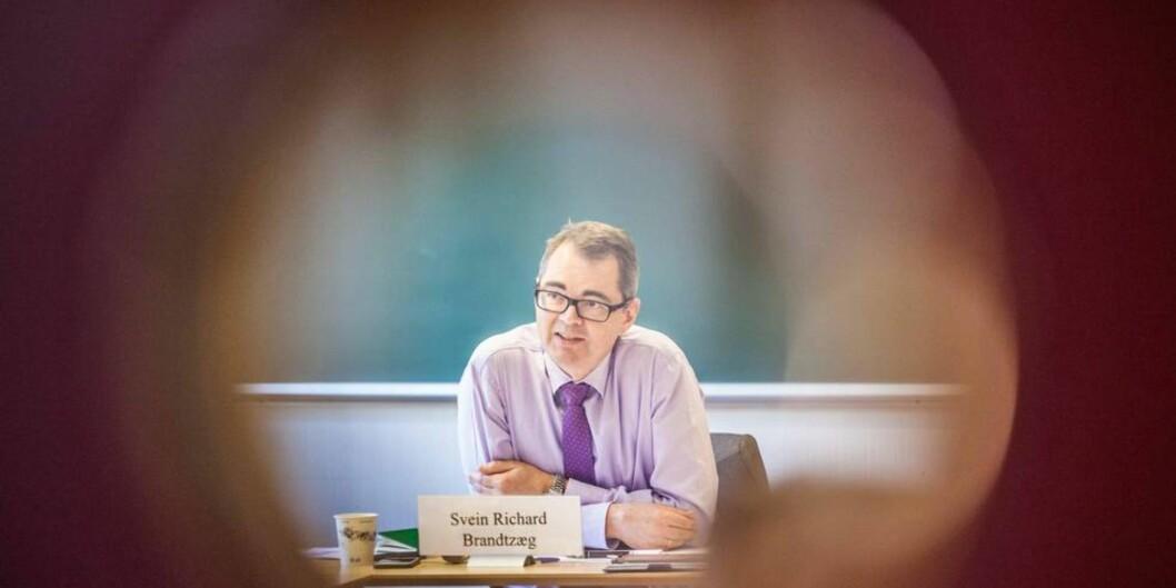 """<span class=""""caps"""">NTNU</span>s styreleder Svein Richard Brandtzæg får 113.000 kroner i året og 14.000 kroner per styremøte i honorar. Samlet: 239.000 kroner i året. Foto: Kristoffer Furberg, <span class=""""caps"""">UA</span>"""