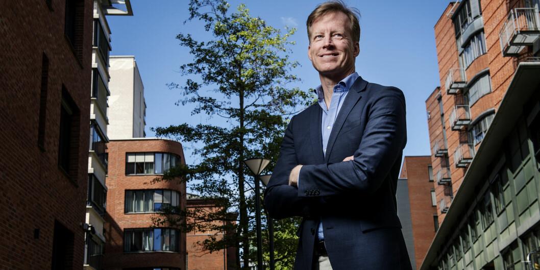 """Curt Rice ser fram til valgvake ved Høgskolen i Oslo og Akershus 8.november når <span class=""""caps"""">USA</span> velger ny president. Foto: BenjaminWard/HiOA"""