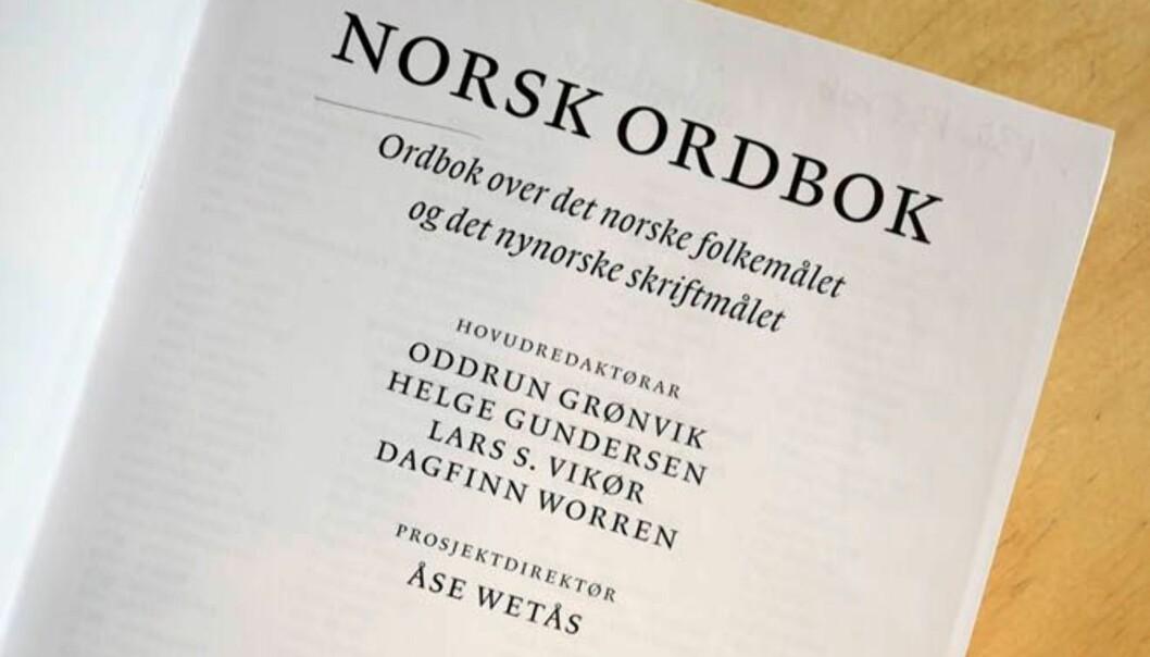 Norsk ordbok er eit stort verk - på nynorsk. Men korleis går det med nynorskbruken i samfunnet?