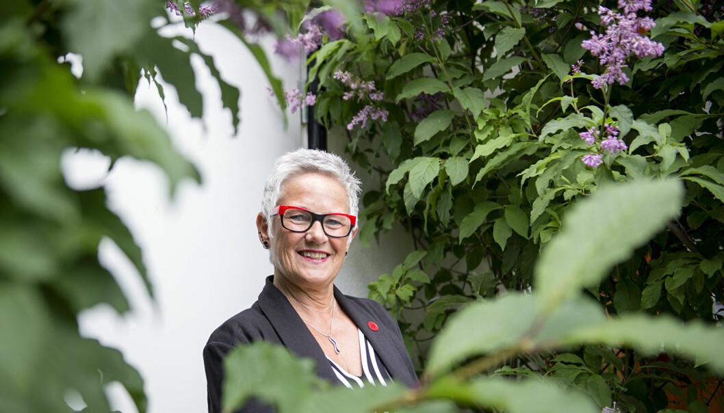 Olgunn Ransedokken gir seg på topp, som fungerende rektor på Høgskolen i Oslo og Akershus isommer. Foto: Cicilie S. Andersen