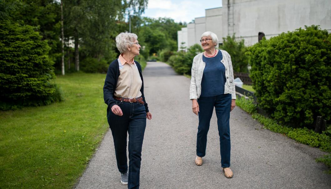 Solveig Askjem (79) og Vigdis Bunkholdt (79) har gått foran og kjempet for alt fra å fjerne homofili som diagnose til bedre kvalitet på sosionomutdanningen iNorge. Foto: Skjalg Bøhmer Vold