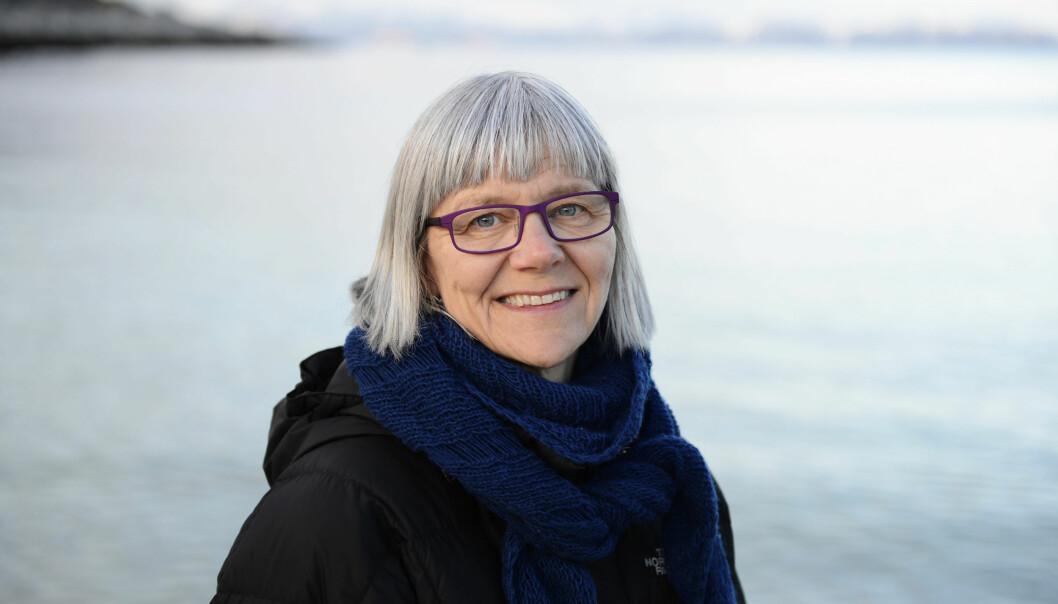 Jordmorprofessor Ellen Blix er en av 12 forskere på Høgskolen i Oslo og Akershus (HiOA) som har gått på formidlingsskole. Det har gitt resultater. Foto: SonjaBalci/HiOA