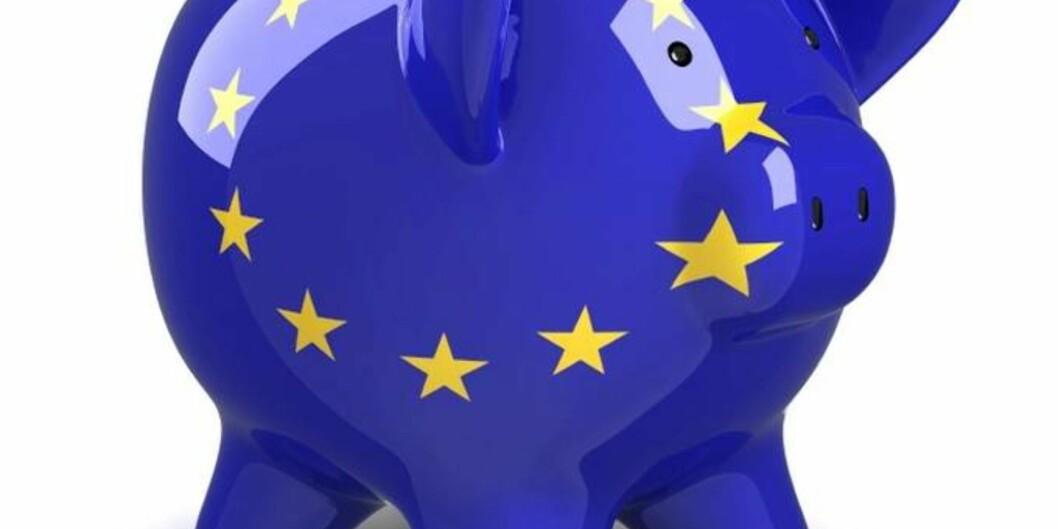 """<span class=""""caps"""">EU</span> putter forskningsmilliardene i sparegrisen, og kutter prosjektet Horisont 2020 med 2,2 milliarder euro. Foto:Universitetsavisa"""