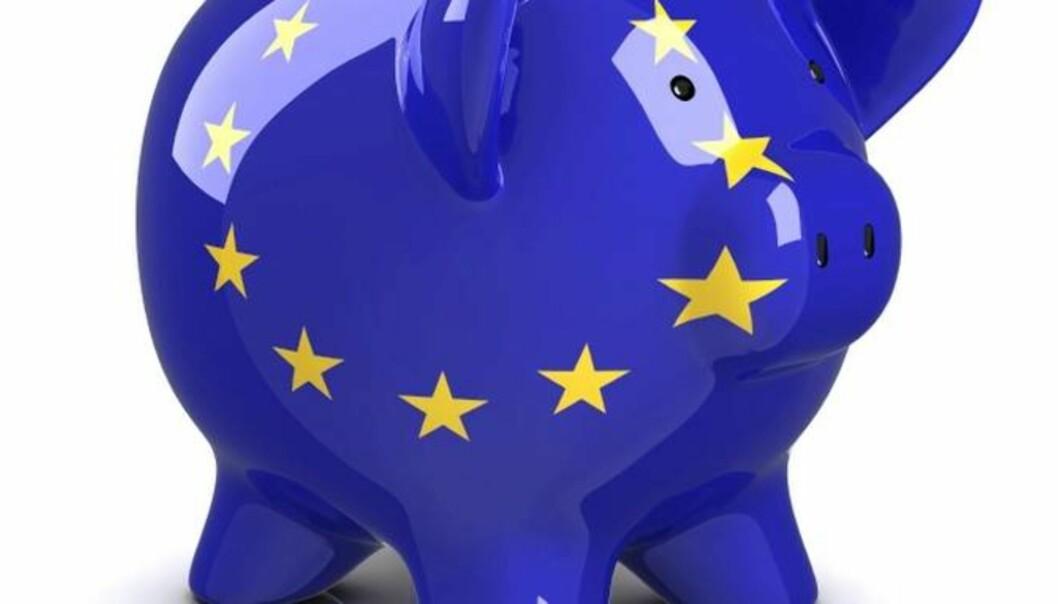 EU putter forskningsmilliardene i sparegrisen, og kutter prosjektet Horisont 2020 med 2,2 milliarder euro. Foto:Universitetsavisa