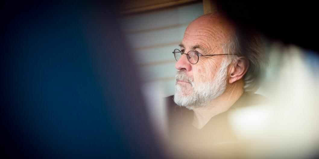 Rektor på Høgskolen i Sørøst-Norge, og snart universitet, og resten av ledelsen får påpakk fra Arve Hjelseth for å forsøke å stoppe viktig debatt. Foto: Skjalg Bøhmer Vold